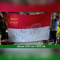 bendera merah putih bahan satin ukuran 200 x 300 cm