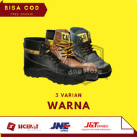 Sepatu Safety Boots Pria Caterpillar Enginer Ujung Besi Terlaris Murah