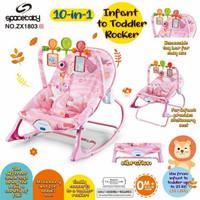 Space Baby Infant To Toddler Rocker ZX1803 / KURSI BANGKU AYUNAN BAYI - PINK