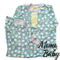 Piyama Velvet Junior MOTIF PINGUIN - Setelan Baju Tidur Anak size 4-10
