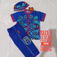baju koko anak merk KeKe size 1 biru