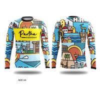 Kaos Baju Jersey Sepeda Lengan Panjang DryFit Printing Custom AKB144