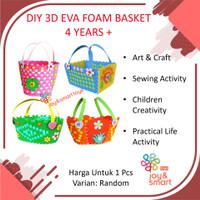 JOY SMART TOYS DIY ART & CRAFT 3D EVA FOAM BASKET MAINAN EDUKASI ANAK