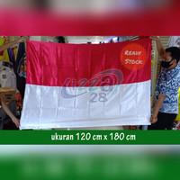 bendera merah putih bahan satin 120 x 180 pakai pengait