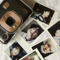 Print Polaroid Instax asli BTS, NCT, EXO, idol, foto sendiri, dll