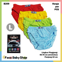 B209 Celana Dalam Anak Cowok Laki L Warna Polos CD Agree Kids SNI