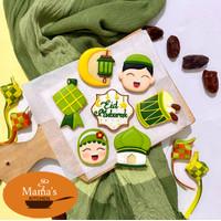 butter cookies icing | kukis hias lebaran eid mubarak idul fitri