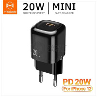 MCDODO CH-8291 KEPALA CHARGER ADAPTOR PD 20W FAST CHARGING IPHONE 12
