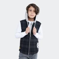 Hoodie Vest Integrated Distortion Celcius Kids A07223K Grey