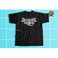 Tshirt Baju kaos Distro Logo Band Serigala Malam Tangan Pendk Murah