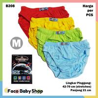 B208 Celana Dalam Anak Cowok Laki M Warna Polos CD Agree Kids SNI