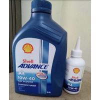 PROMO Paketan Oli Shell AX7 Matic 10W40 0.8 L + Gear Oil 15W40