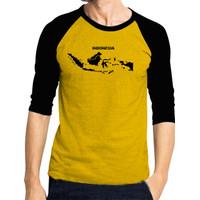 Kaos Baju PRIA Raglan Lengan 3/4 PETA Kaos COWOK/ Kaos Oblong/ Kaos