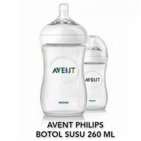 avent philips natural bottle 2.0 isi 260ml (white) botol susu bayi