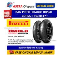 Pirelli Diablo Rosso Corsa II 90/80 17 (Depan/Belakang) (3131200)