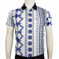 Kaos Polo Motif Batik Pria Miller Newman-41/Bahan Berkualitas/100%ORI - C, M