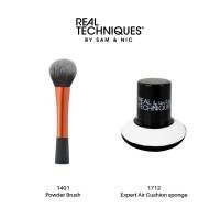 Real Techniques Combo Sale Powder Brush + Expert air cushion sponge