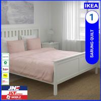 lKEA 200X200 CM SARUNG QUILT / BED COVER & 2 SARUNG BANTAL WARNA PINK