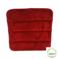 Krishome 40x40x2.5 Cm Bantal Alas Duduk Memory Foam - Merah