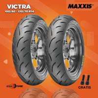 Paket Ban Motor Honda PCX // MAXXIS VICTRA 100/80-120/70 R14 Tubeless