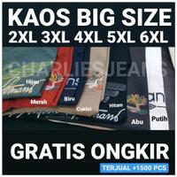 KAOS JUMBO PRIA baju big size XXL XXXL motif simple