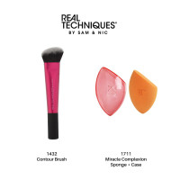 Real Techniques Combo Sale Contour Brush + Miracle complexion sponge