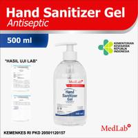 Hand sanitizer Handsanitizer GEL 500ML MedLab Antiseptik New Formula