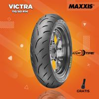 Ban Depan Motor YAMAHA AEROX // MAXXIS VICTRA 110/80 R14 Tubeless