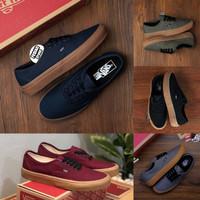 Sepatu Vans AUTHENTIC BLACK GUM RING GOLD BNIB MADE IN CHINA