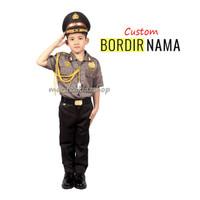 Baju / Stelan / Setelan / Kostum Profesi Polisi Polri Anak