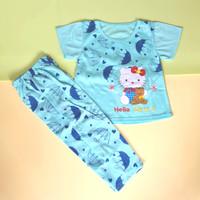 Setelan Baju Tidur Anak Celana Panjang Motif Doraemon Bordir CP - 2-3 tahun