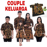 Couple Batik Keluarga Set Anak / Baju Seragam Batik Keluarga Sarimbit