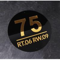 Nomor Rumah Akrilik Mirror|Papan nama alamat rumah premium - 20x20cm