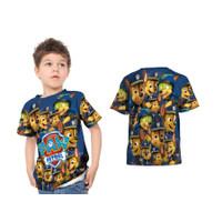 Kaos Baju Anak Kartun Paw Patrol Chase Fullprint - S