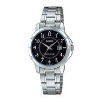 Jam Tangan Wanita Casio Analog Black Dial Stainless Steel LTP-V004D-1B