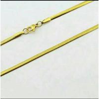 Kalung Titanium Pipih Emas Pria - Wanita Panjang 60 cm