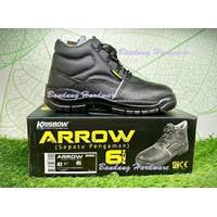Krisbow Safety Shoes Arrow 6 Inch Uk 39-44 Hitam - Sepatu Safety