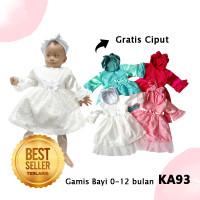Gamis Baju Muslim Bayi 0-12 bulan Gamis Princes Murah KA93 Bayi Murah