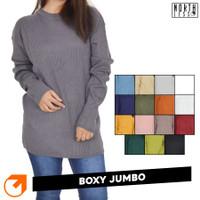 Boxy Preium Jumbo / Boxy Sweater Oversize / Baju Rajut Wanita Jumbo