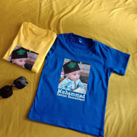 Baju Kaos Anak Sablon Foto Dan Nama