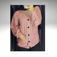 Cardigan Rajut Wanita - Merah Muda