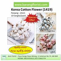 Cotton Flowers bunga kapas 10 pcs/pack - Light Blue