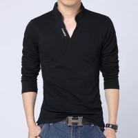 Kaos Pria Lengan panjang Polo shirt