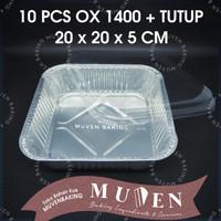 ALUMUNIUM FOIL TRAY OX 1400 + TUTUP / ALUMINIUM OX-1400 OX1400 + TUTUP