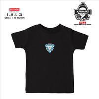 Kaos Baju Anak MARVEL IRON MAN ARC REACTOR Kaos Superhero - Karimake - XS