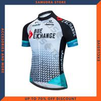 Baju Jersey Sepeda Gowes Exchange 2021 Balap Roadbike Lengan Pendek