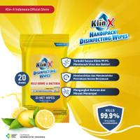 Klin-X Travelpack Tisu Tissue Basah Disinfektan ANTIBAKTERI 20's