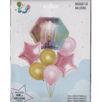 Dekorasi Ulang Tahun Balon Foil Happy Birthday Bintang / Star Unicorn