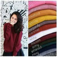 Boxy Premium Abg / Sweater Rajut Wanita / Baju Rajut Oversize / Atasan