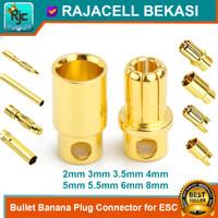 Bullet Banana Plug 2mm~8mm Socket Connector Jack Konektor for ESC RC